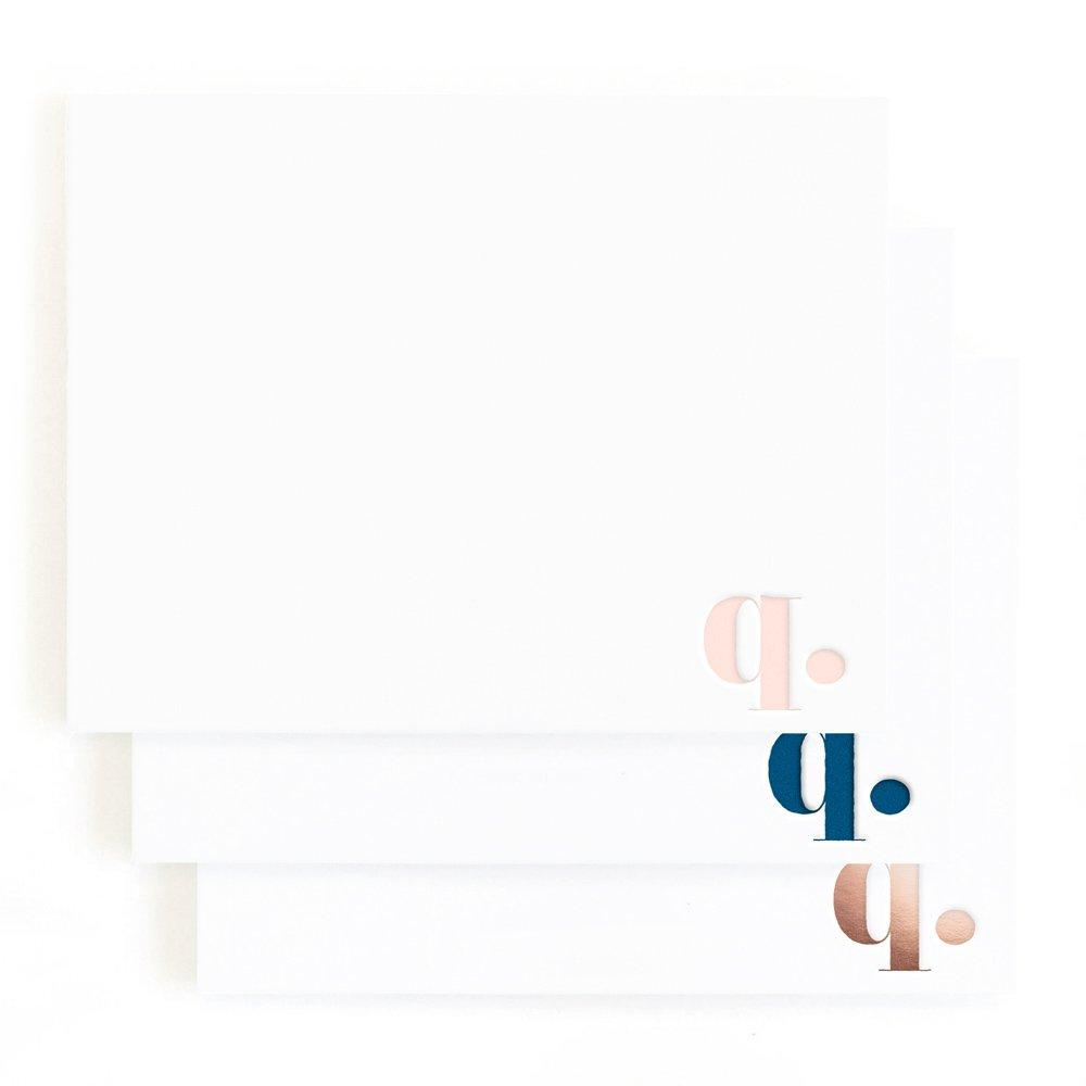 Minted C Letterpress Stationery Set