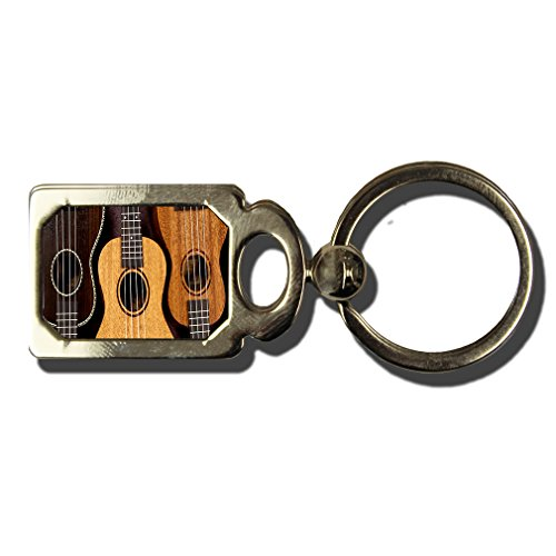Ukulele One Side Framed Metal Key Chain from Style in Print