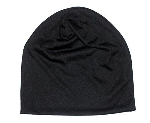Black Skull Cap Hat (ICSTH Unisex Cotton Beanie- Soft Sleep Cap Street Dancer Watch Hat)
