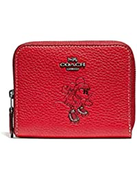 Boxed Minnie Mouse Small Zip Around Leather Wallet - Red