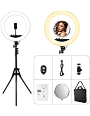 Anillo de Luz led Fotografia,VicTsing 48 cm, 55W, 3200-5600K Temperatura de Color, Brillo Regulable (0%-100%), Control Remoto Inalámbrico, para Teléfono y Cámara, Youtube y Selfie Video de Maquillaje