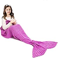 JR.WHITE Mermaid Tail Blanket for Kids and Adults,Hand...