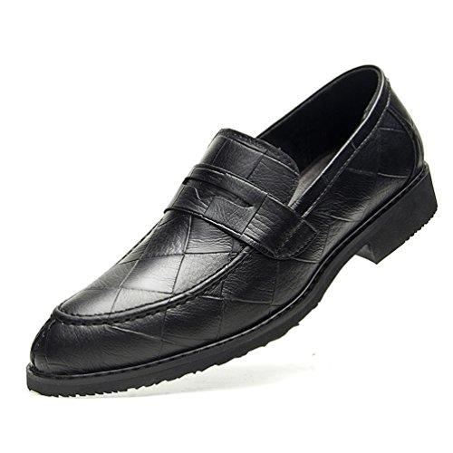 Mezza Blocco Suola Rilassato Semplicemente Accogliente Scarpe Business in Tacco Pantofole Nero Basso Feidaeu Gomma Bqx5SpPW