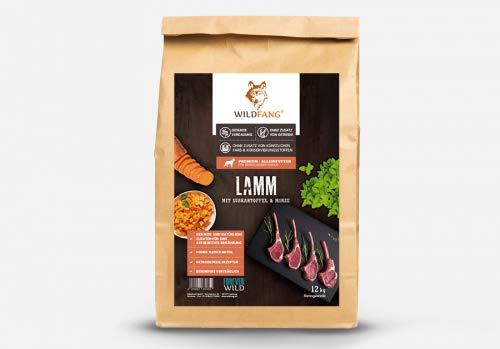 Wildfang® Hundefutter Trocken – Getreidefreies Hundefutter – Lamm mit Süsskartoffel & Minze   Ideal für ausgewachsene…