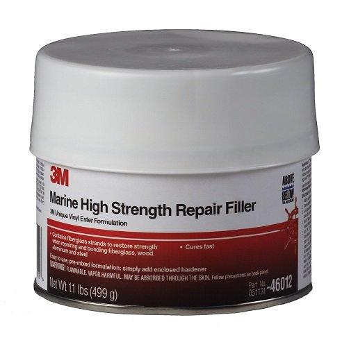 - 3M White 1 pt 46012 Marine High Strength Repair Filler-Pint