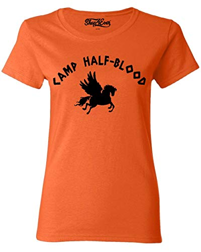 Shop4Ever Camp Half Blood Women's T-Shirt Small Orange 0]()