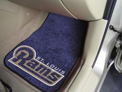 NFL 2 Piece Carpeted Novelty Car Mats NFL Team: St. Louis Rams