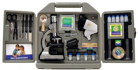 Cassini C-67M 1200x 67-Piece Microscope Set, Black by Cassini