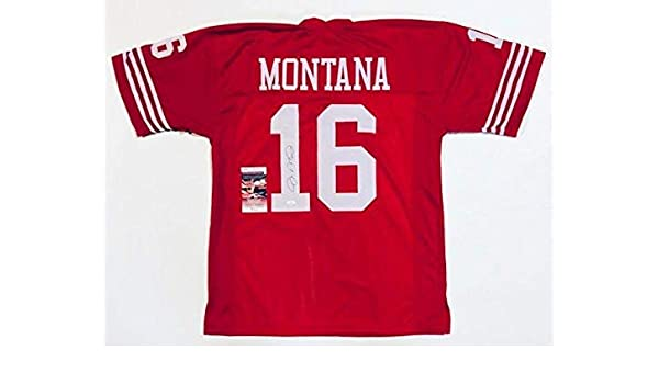 e313cf78426 Autographed Joe Montana Jersey - PRO STYLE w WITNESSED COA  WPP213637 - JSA  Certified - Autographed NFL Jerseys at Amazon s Sports Collectibles Store