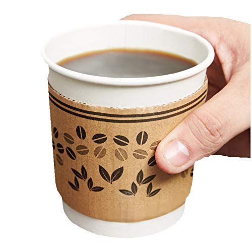 GOLDEN APPLE, Hot Coffee Cup Sleeve 50ct, Fit 10oz, 12oz, 16oz Paper Cups