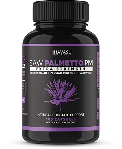 Saw Palmetto Prostate Supplement - Night Time Support for Those with Frequent Urination - Supports DHT Blocker & Hair Loss Prevention - Gluten Free; Non-GMO, 100 Capsules