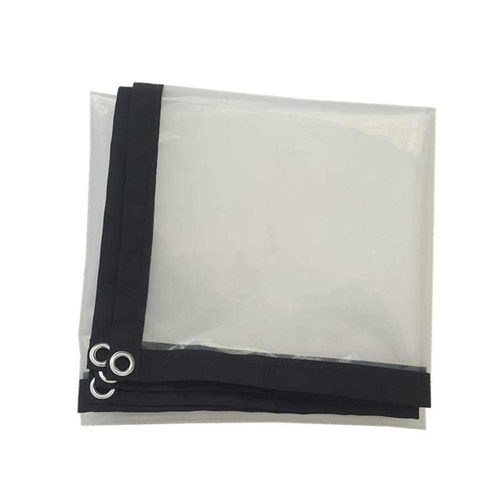 A 1x1m AJZXHE Plan Transparente BÂche Transparent épaississant Liseret Plastique poreux bÂche imperméable fenêtre Balcon Culture de Serre Film Tissu imperméable épaissi (Couleur   A, Taille   3x6m)