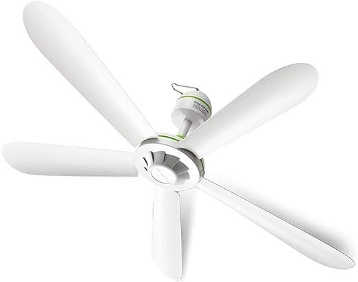 Blanc Trois Feuilles Mini Muet Ne Pas Blesser La Main /Étudiant Dortoir Bureau Maison Ventilateur De Plafond Climatisation Ventilateur