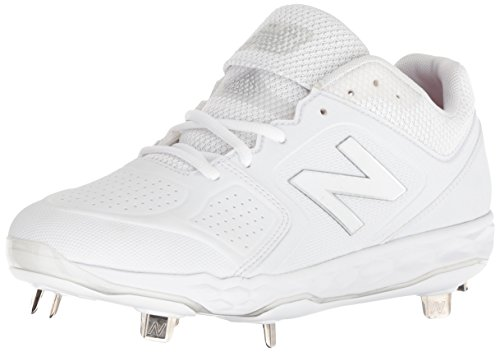 New Balance Women's Velo V1 Metal Softball Shoe, White, 7.5 B US