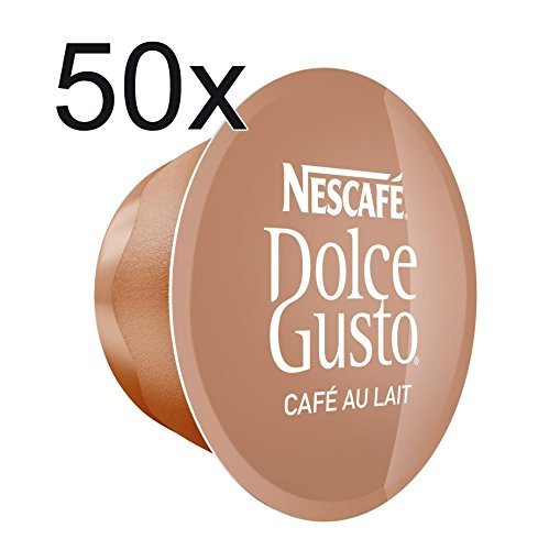 50 x Nescafe Dolce Gusto Café Au Lait - Coffee Capsules - 50 Capsules