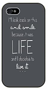 I'll look back on this and smile because it was LIFE and I decided to live it - Adventurer iPhone 5 5s Black plastic case