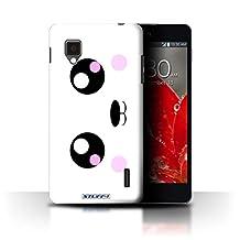 STUFF4 Phone Case / Cover for LG Optimus G E975 / Panda Design / Cute Kawaii Collection