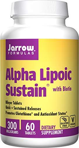Jarrow Formulas Alpha Lipoic Sustain w/Biotin Tabs, 60 ct