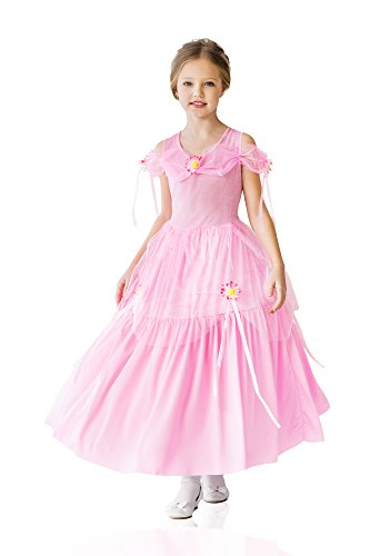 Kids Girls Princess Costume Magic Beauty Classic Fairy Tale Party Outfit Dress Up (3-6 years, Pink, (Fairy Tale Ball Ideas)