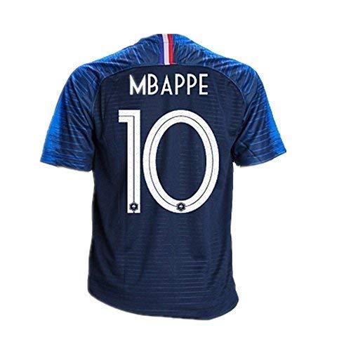 France National Team 10 MBAPPE Home Mens Soccer Jersey Color Blue Size L