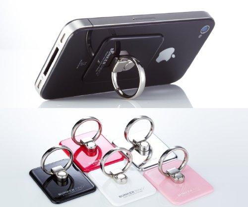 New Bunker Ring 3 Black 【全5色】 iPhone5/iPhone4S/iPad mini/iPad2/iPad/iPod/GALAXY Slll スマートフォン・タブレットPCの落下防止・スタンド機能・指1本で保持