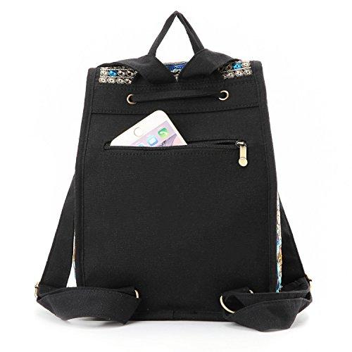 Blue Embroidery Bigger Goodhan Women Ethnic Travel Mochila S01 Shoulder Vintage Handbag Size Bag Backpack qx6pOSA