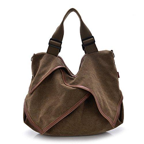 ZUNIYAMAMA - Bolso de asas de Lona para mujer M marrón