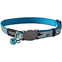 Rogz Reflectocat Cat Collar, Blue Fish