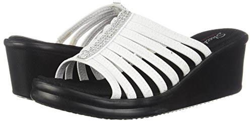 Mujer Punta Hotshot Descubierta Blanco Sandalias de Rumblers Skechers para 0AwUqfx