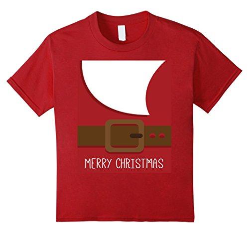 St Nicholas Children's Costume (Kids SANTA CLAUS Beard & Body Christmas Holiday Costume T-Shirt 6 Cranberry)