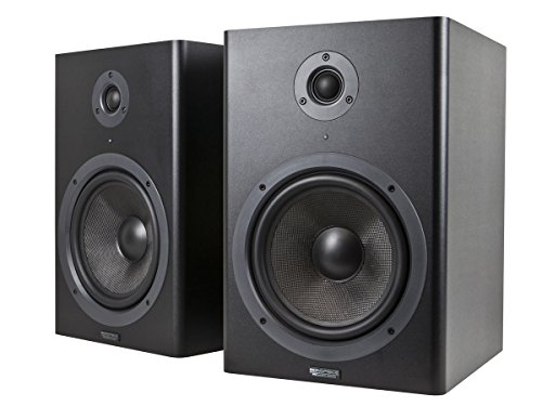 Monoprice Stage Right 8-inch Powered Studio Multimedia Monitor Speakers (pair) - (605800) by Monoprice
