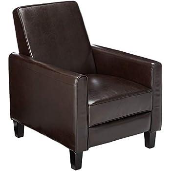 Amazon Com Flash Furniture Brown Leather Push Back