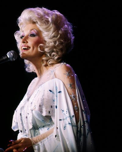 Dolly Parton 8x10 Promotional Photograph White Dress Concert Image