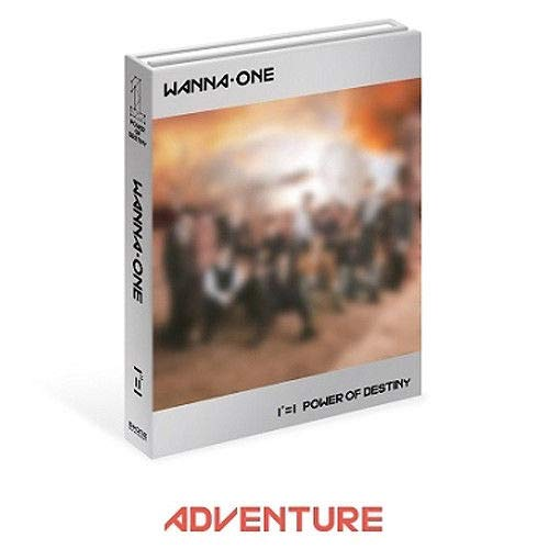 WANNA ONE [1¹¹=1 POWER OF DESTINY] 1st Album ADVENTURE CD+POSTER+120p Photo Book+1ea Sleeve Cover+1p Stamp Sicker +1p Flim Photo Card+1ea Lyrics+1ea Golden Ticket+Tracking Number K-POP SEALED