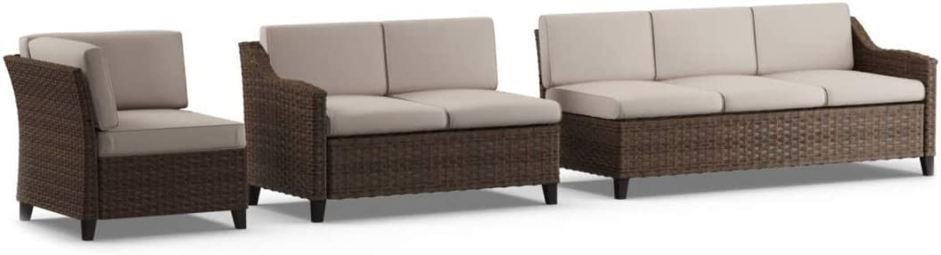 Augusta All Weather Wicker Cushioned Modular Sectional