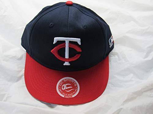 OC Sports MLB-300 MLB Cotton Twill Baseball Cap - Minnesota Twins Road Navy Red / 6 3/8