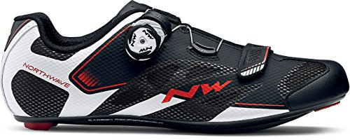 Northwave Sonic 2 Plus Wide Cycling Shoe - Men's Black/White/Red, 42.0 ()