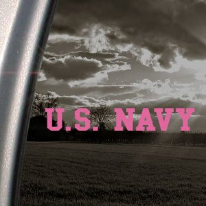 US NAVY Banner USN Pink Decal Car Truck Window Pink Sticker