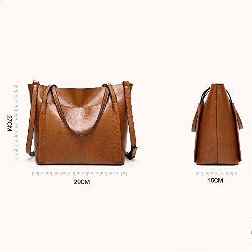 bolsa hombro dama tamaño Brown mensajero Penao 29cmx15cmx27cm de Casual cien Moda Bella vueltas zaqx50a