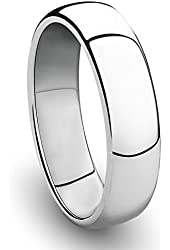 Cavalier Jewelers 6MM Cobalt Chrome Ring Classic Wedding Band with Polished Finish