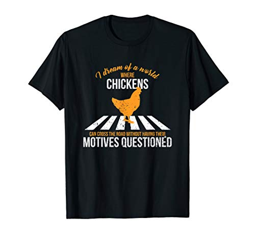 (Chickens Crossing The Road T-Shirt)