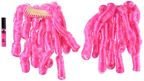 California Costumes 70699 Anime Curls with Hairscara, ACC, Pink ()
