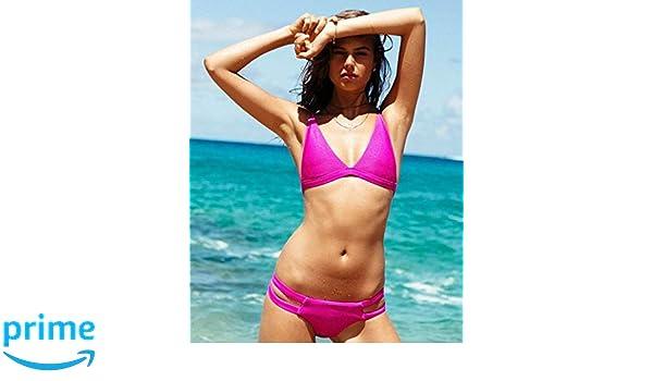 dafc55028dc Amazon.com: Billabong Women's Tanlines High Point Tri Bikini Top, Rebel  Pink, XL: Clothing
