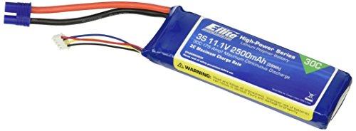 E-flite 11.1V 2500mAh 30C 3S LiPo, 12AWG: EC3, EFLB25003S30