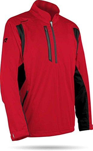 Sun Mountain Mens Rainflex Rain Pullover Red L ()