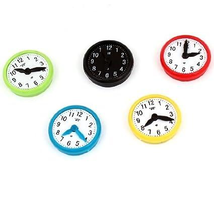 eDealMax 5pcs Diseño plástico del reloj Lavadora imán de frigorífico 1,4 Dia