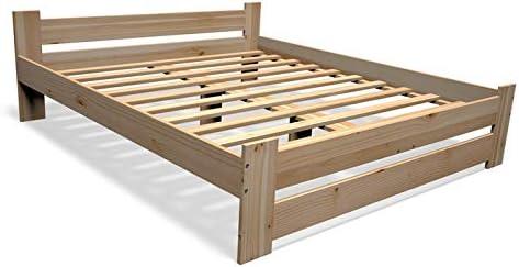 Best For You Cama doble futón para personas mayores de 100% madera natural con colchón y somier, muchos tamaños (140 x 200 cm)