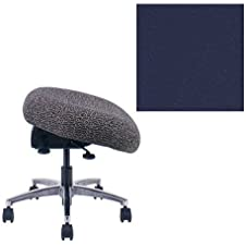Office Master Classic Collection CLFT Ergonomic Application Stool - No Armrests - Grade 1 Fabric - Celestial Titan Blue 1204 PLUS Free Ergonomics eBook