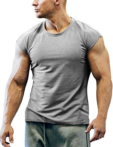 COOFANDY Men's Gym Workout T Shirt Short Sleeve Muscle Cut Bodybuilding Training Fitness Tee Tops ()