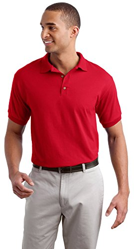 Gildan Mens DryBlend 6-Ounce Jersey Knit Sport Shirt, 3XL, Red